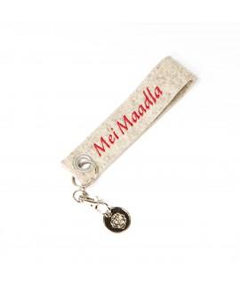 """Schlüsselanhänger """"Mei Maddla"""" mit Pin"""