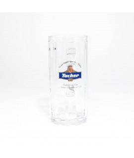 Tucher Glaskrug mit blauem Logo 0,3 Liter