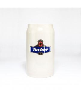 Original Tucher Maßkrug aus Stein 1 Liter