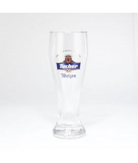 Tucher Weißbier Glas mit blauem Logo 0,5 Liter