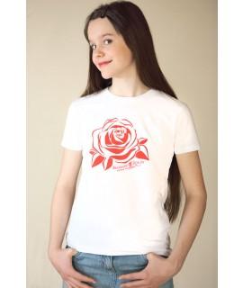 Kinder-T-Shirt mit Röslein-Motiv